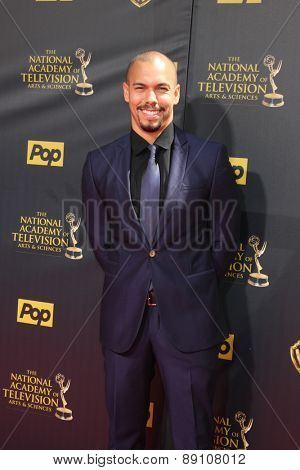 LOS ANGELES - APR 26:  Bryton James at the 2015 Daytime Emmy Awards at the Warner Brothers Studio Lot on April 26, 2015 in Burbank, CA