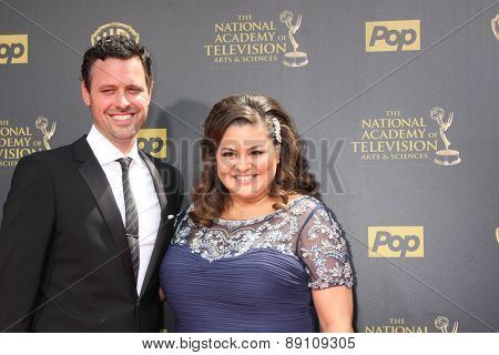 LOS ANGELES - APR 26:  Brian McDaniel, Angelica McDaniel at the 2015 Daytime Emmy Awards at the Warner Brothers Studio Lot on April 26, 2015 in Burbank, CA