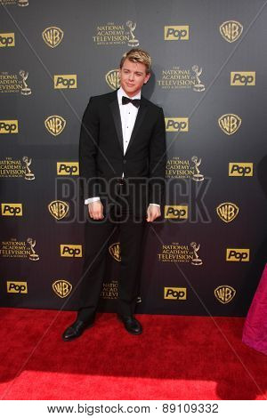 LOS ANGELES - APR 26:  Chad Duell at the 2015 Daytime Emmy Awards at the Warner Brothers Studio Lot on April 26, 2015 in Burbank, CA