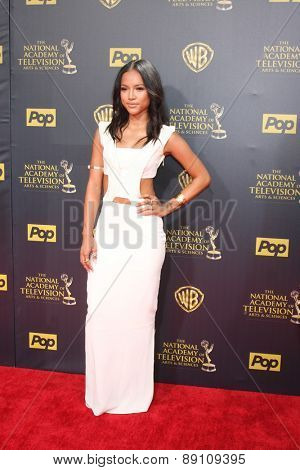LOS ANGELES - APR 26:  Karrueche Tran at the 2015 Daytime Emmy Awards at the Warner Brothers Studio Lot on April 26, 2015 in Burbank, CA
