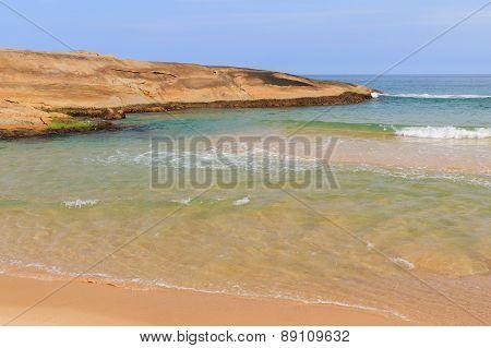 Rock On Beach Praia Do Cepilho With Transparent Water, Trindade, Paraty, Brazil