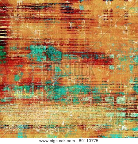 Grunge texture, distressed background. With different color patterns: yellow (beige); brown; blue; red (orange)