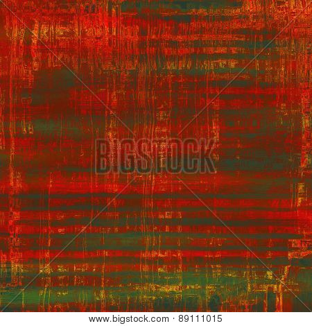 Grunge colorful background. With different color patterns: brown; green; red (orange)