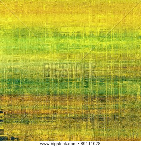 Rough vintage texture. With different color patterns: yellow (beige); brown; green