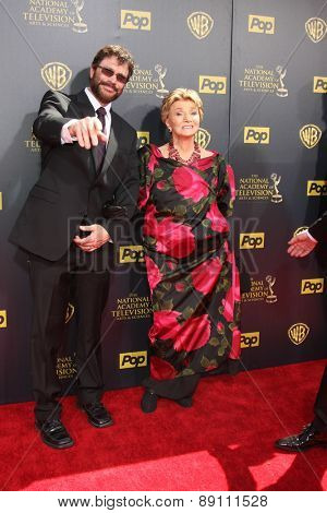 LOS ANGELES - APR 26:  Peter Reckell, Peggy McKay at the 2015 Daytime Emmy Awards at the Warner Brothers Studio Lot on April 26, 2015 in Burbank, CA