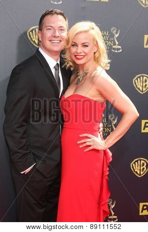 LOS ANGELES - APR 26:  Jessica Collins at the 2015 Daytime Emmy Awards at the Warner Brothers Studio Lot on April 26, 2015 in Burbank, CA