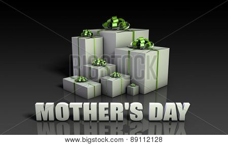 Mother's Day Gifts With Elegant Green Ribbons