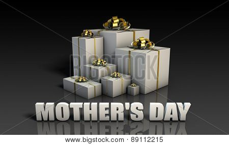 Mother's Day Gifts With Elegant Gold Ribbons
