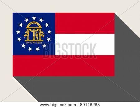 American State of Georgia flag in flat web design style.