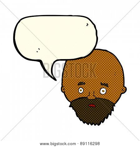 cartoon person with word bubble