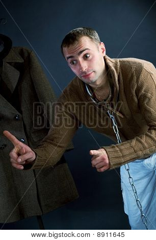 A Young Man In A Brown Jacket