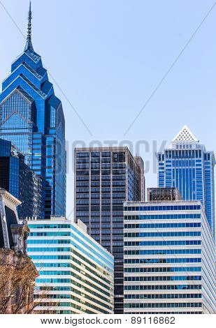 Old Theatre And Modern Skyscrapers In Philadelphia