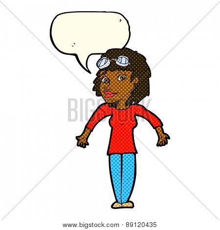 cartoon woman shrugging