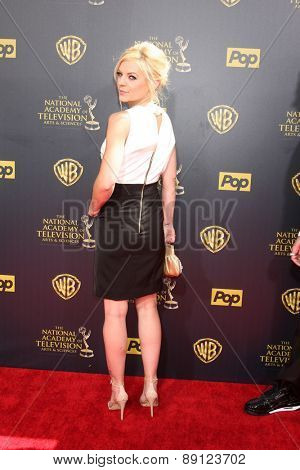 LOS ANGELES - APR 26:  Kristen Storms at the 2015 Daytime Emmy Awards at the Warner Brothers Studio Lot on April 26, 2015 in Burbank, CA