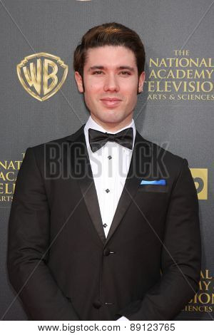 LOS ANGELES - APR 26:  Kristos Andrews at the 2015 Daytime Emmy Awards at the Warner Brothers Studio Lot on April 26, 2015 in Burbank, CA