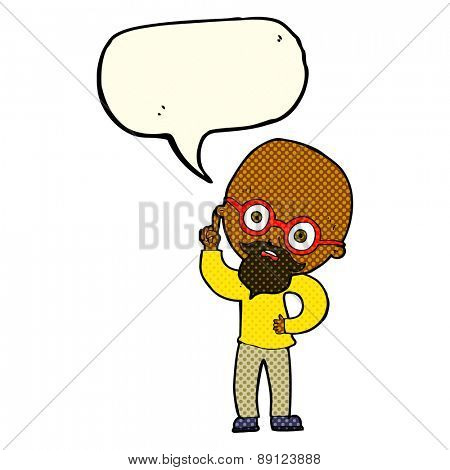 cartoon old man  with speech bubble