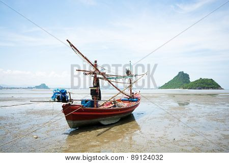 Fisherman Boat On The Beach