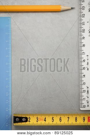engineering concept at metal background texture
