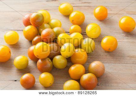 ripe organic colorful mini tomatoes