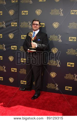 LOS ANGELES - APR 26:  Gregori J Martin at the 2015 Daytime Emmy Awards at the Warner Brothers Studio Lot on April 26, 2015 in Burbank, CA