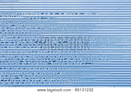 Corrugated Plastic Texture With Stripes And Water Drops