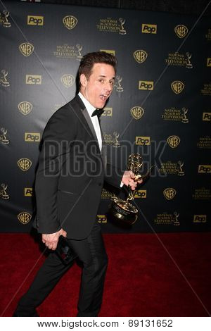 LOS ANGELES - APR 26:  Christian LeBlanc at the 2015 Daytime Emmy Awards at the Warner Brothers Studio Lot on April 26, 2015 in Los Angeles, CA