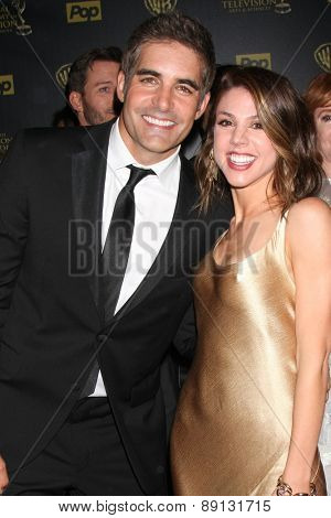 LOS ANGELES - APR 26:  Galen Gering, Kate Mansi at the 2015 Daytime Emmy Awards at the Warner Brothers Studio Lot on April 26, 2015 in Los Angeles, CA