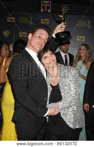 LOS ANGELES - APR 26:  Christian LeBlanc, Jill Farren Phelps at the 2015 Daytime Emmy Awards at the Warner Brothers Studio Lot on April 26, 2015 in Los Angeles, CA