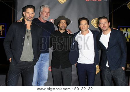 LAS VEGAS - APR 21:  Magic Mike XXL cast at the Warner Brothers 2015 Presentation at Cinemacon at the Caesars Palace on April 21, 2015 in Las Vegas, CA