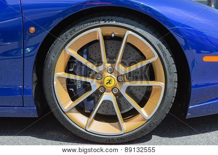 Ferrari Wheels On Display