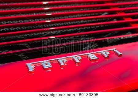 Ferrari Logo Car On Display