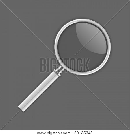 Magnifying Glass with transparent vector Illustration