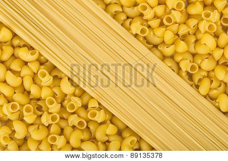 Background Pasta Of Tubes And Spaghetti