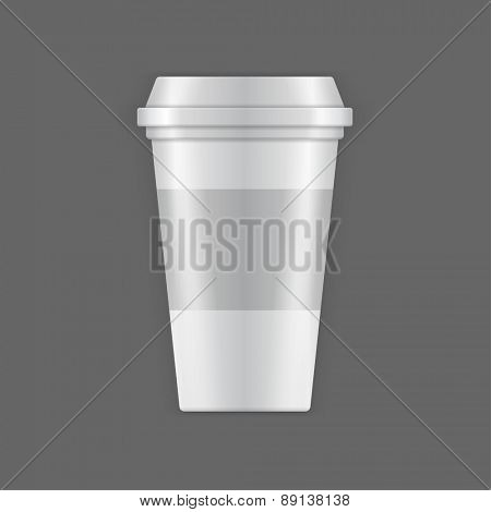 Coffee Cup vector mock up template for logotype presentation