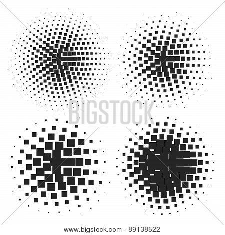 Abstract Halftone Elements