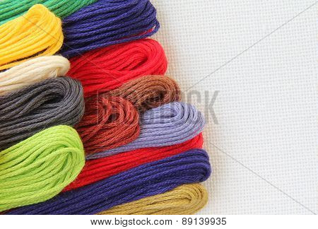 Floss And Fabric For Embroidery