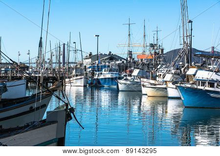 Boats in the harbor, San Francisco