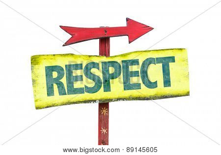 Respect sign isolated on white