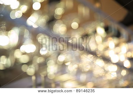 Abstract bokeh of glass