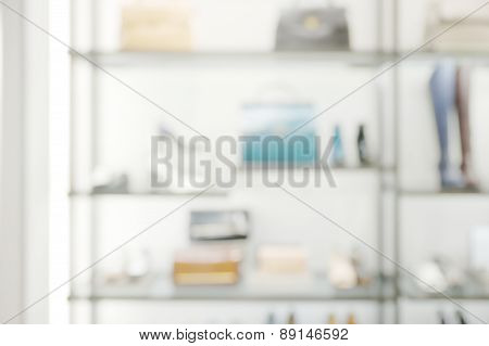 Abstract blurry boutique shop