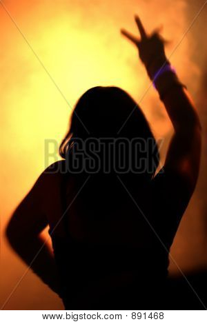 Silhouette Of A Dancing Woman