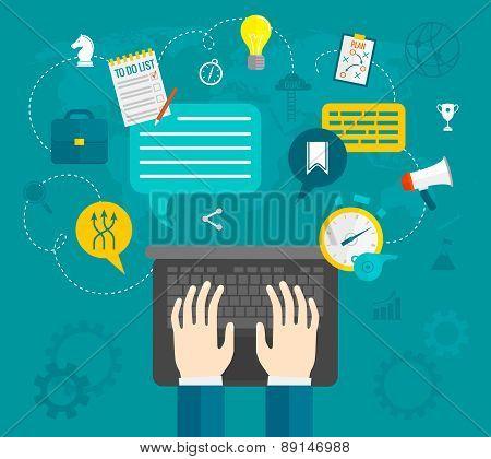 Business Hands Flat