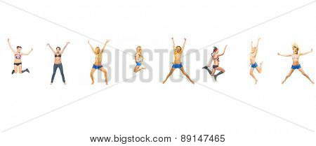 Jumping CONCEPT Isolated over White