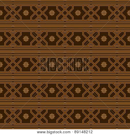 Luxurious Seamless Pattern In Oriental Style