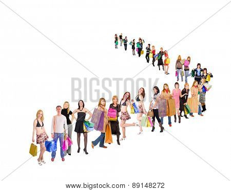 Shopping Spree Women Queue