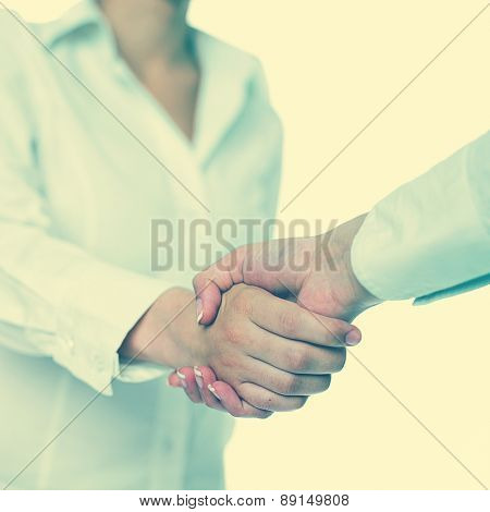 Handshake Handshaking isolate on white