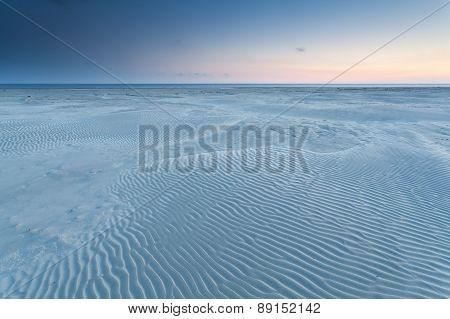 Sand Texture On North Sea Beach