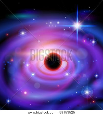 Magic Space - black hole, planets, stars and constellations, nebulae and galaxies, lights