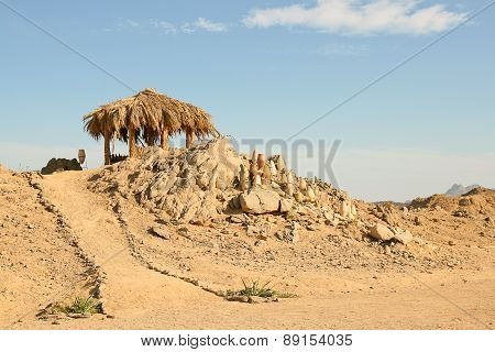 Traditional Rural African Reed And Thatch Hut