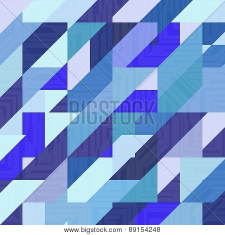 Abstract Geometric Vector Blue Background.